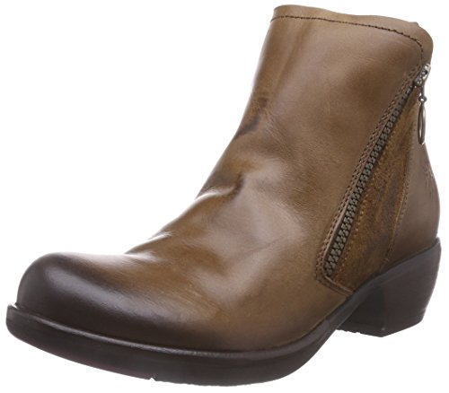 FLY London Meli, Bottes Chelsea Femme Marron (Camel 005)