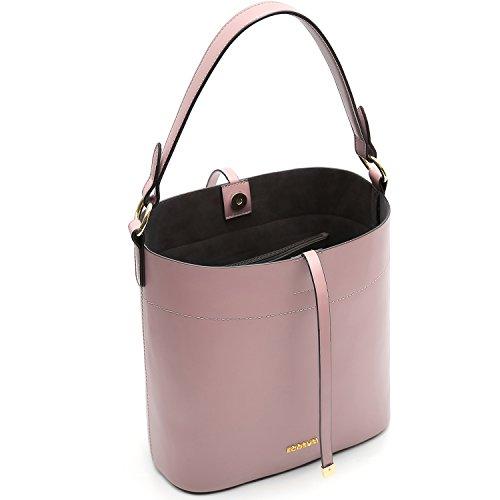 ECOSUSI Borsa a secchiello in pelle PU per donna Borsa a tracolla per borsa da donna