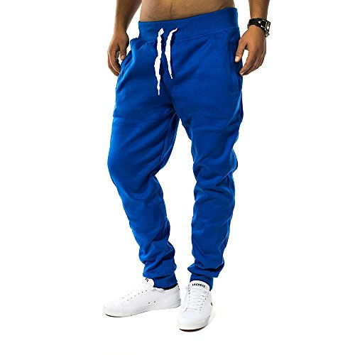 Herren Jogging Hose Fit & Home Sweat Pant Sporthose H1128 Blau M