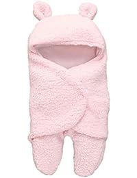 0-1 Jahre Kleinkind Kind Hoodie Lamm Decken, DoraMe Neugeborenes Baby Mädchen Jungen Schlafen Wrap Decke Fotografie Prop Unisex Kapzen Schlafsack