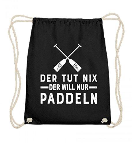 Hochwertige Baumwoll Gymsac - Dein Turnbeutel zum Paddeln - Der tut nix ausser richtig gut Paddeln - Kanu Drachenboot -