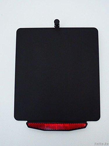 Kennzeichenhalter \'Change\', geeignet als Umrüstung für V2 Kennzeichenhalter, inklusive LED-Kennzeichenbeleuchtung und E-geprüftem Rückstrahler, Farbe:Schwarz