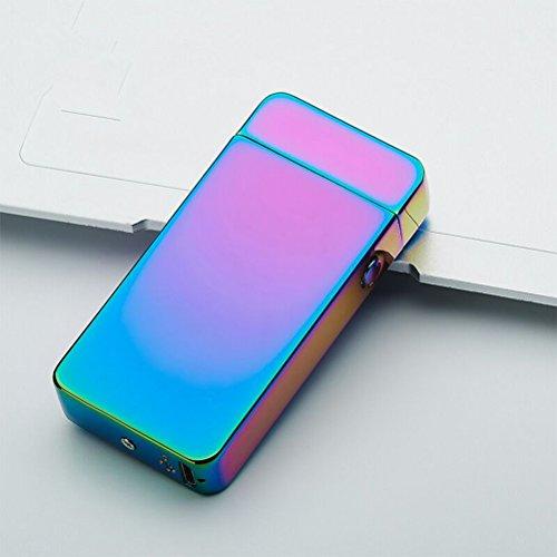 BESTOMZ USB elektronisches Feuerzeug aufladbar lichtbogen (bunte Ice)