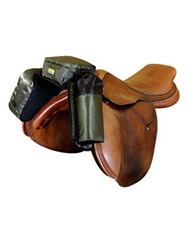 trailMAX Englisch Sattel Sattelkopf Taschen, graugrün -