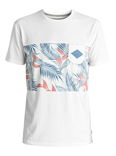 Quiksilver Snow Hose (Quiksilver Herren FADEDTIME Faded Time Pocket-t-Shirt, Snow White, S)
