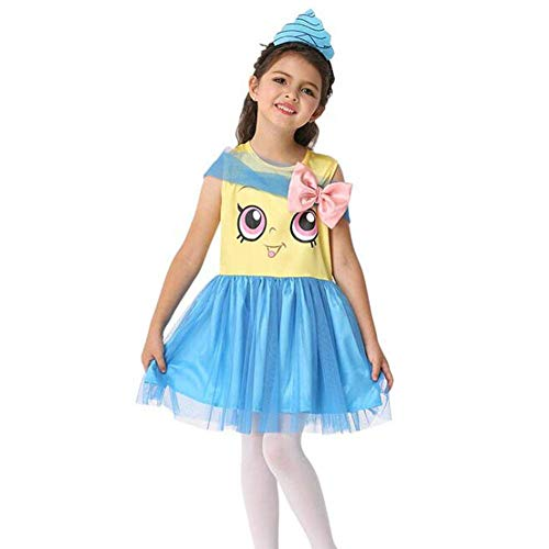 QWE Halloween Kostüm Mädchen niedlich Prinzessin Kleid Cosplay Cartoon Kostüm Kinder Leistungskostüm (Niedliche Halloween Kostüm)