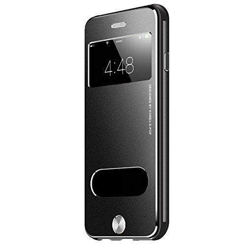 VAPIAO Alu Back Cover Schutzhülle Sanders Hard Cover Flip Case aus Aluminium für iPhone 7 in Schwarz - 7 Sander