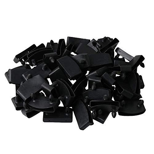 6ddd06f5aaa8 RDEXP - Tapas para Listones de Cama de un Solo Extremo, Color Negro,  Contiene Repuesto para Sujetar y asegurar Listones de Madera en la Cama,  Paquete ...