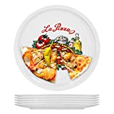 Van Well Napoli Set di 6 piatti da pizza in porcellana, diametro 30,5 cm, con motivo