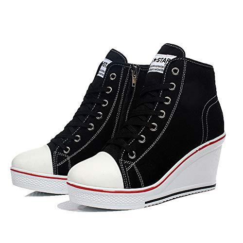 Padgene Zapatillas Moda de Lona Zapatos Altos Tenis Deportivos Casual Calzado...