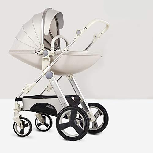 Poussettes, Des gamins Landau Voyage Système Poussette Buggy Bébé Enfant Poussette Sens inverse (Couleur : Silver)