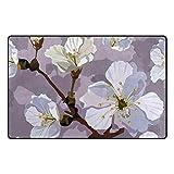 KAIHONG Sakura Area Rug Fußmatte aus Polyester, 79 x 51 cm, Violett, Polyester, Multi2, 60 x 39 inch