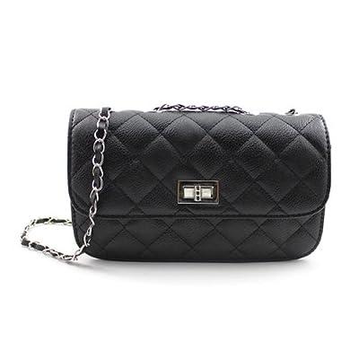 HuaYang Nouveau sac à épaule sac à main avec Fermeture éclair pour femmes(Noir)