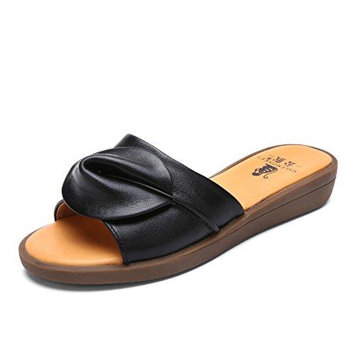 Pantoufles dames à fond plat/Flat Sandals/Sandales casual A