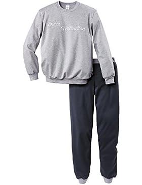Calida Jungen Zweiteiliger Schlafanzug Strong Worker Knaben Pyjama Bündchen