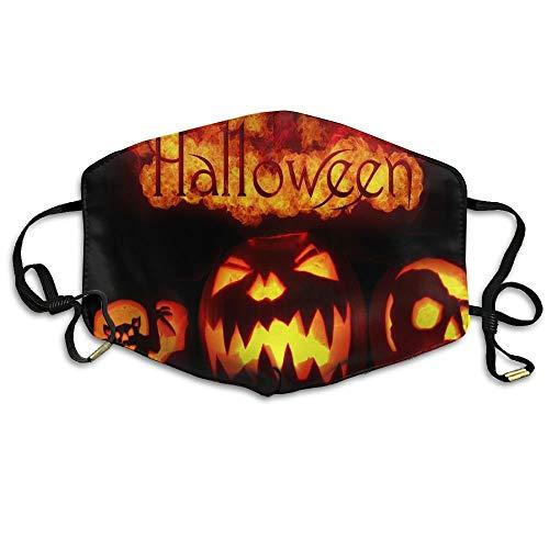 Girls Mund Maske Anti-Dust Respirator Gift Fire Halloween Crazy Pumpkins Bat.jpg