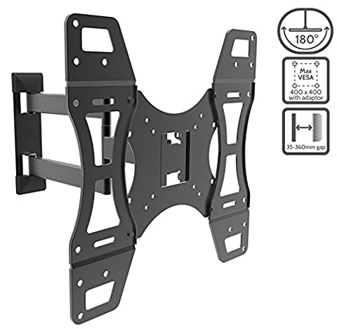 "JL Comfurni Tilt Swivel Universal TV Wall Mount Bracket for LCD Flat Television Screen 14""-50"" Inch (TV Wall Mont Bracket,"