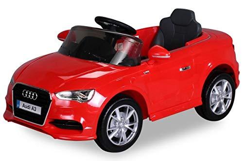 Kinder Elektroauto Lizenzierter Audi A3 mit 2 x 35 Watt Motor Original Elektro Kinderauto Kinderfahrzeug (rot)