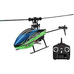 Niulyled Helicóptero RC - WLtoys V911S 2.4G 4CH Avión de helicóptero de cuatro vías de una sola hélice sin aeronave de alerón Giroscopio de 6 ejes