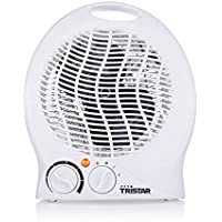 Tristar KA-5039 - Calefactor eléctrico 3 funciones ajustables, termostato regulable, ventilador,