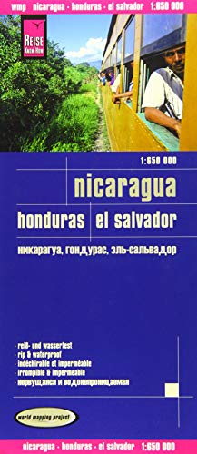 Reise Know-How Landkarte Nicaragua, Honduras, El Salvador (1:650.000): world mapping project: Kartenbild 2seitig. Naturparks, Naturschutzgebiete. ... Straßennetz. Gitternetz und Ortsindex