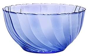 Duralex 2003BF03 Saladier Beau Rivage Bleu Verre Transparent 11,3 cm