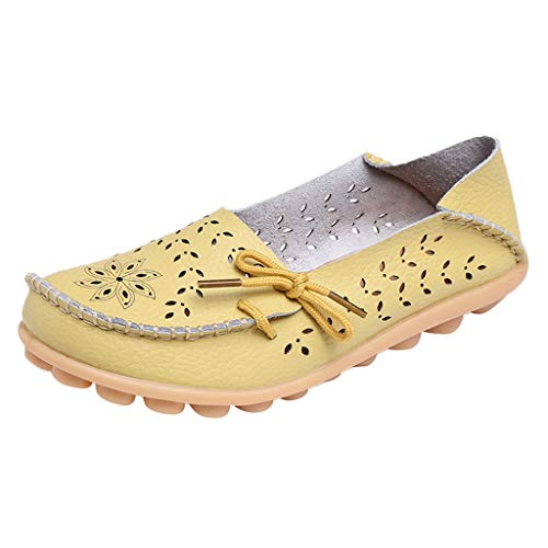 Daylin Women Mother Casual Hole Simple Soft Shoes Nurse with Flat Shoes  Women's Casual Driving Shoes