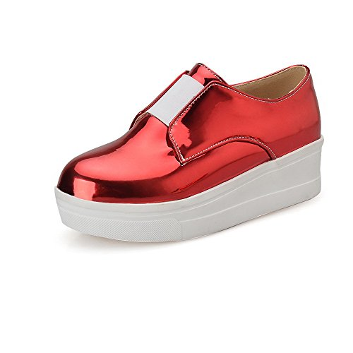 amagooter-womens-elastic-low-heels-pu-solid-round-closed-toe-pumps-shoes-red-38