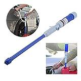 OurLeeme Pompa di trasferimento Acqua Liquido di Carburante, Pompa di aspirazione Pieghevole elettrica Automatica a Batteria (Blu)