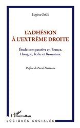 L'adhésion à l'extrême droite: Etude comparative en France, Hongrie, Italie et Roumanie