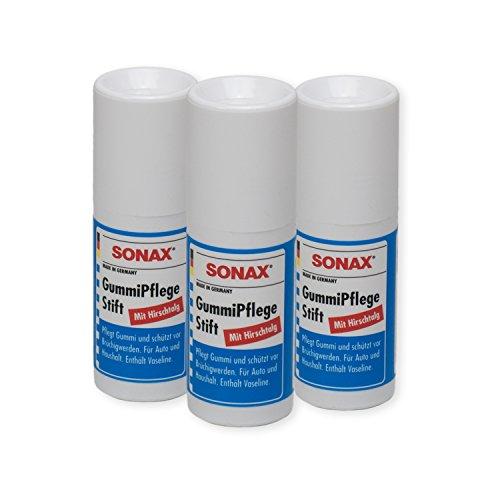 Preisvergleich Produktbild 3x SONAX Gummipflege Stift Gummi-Pflege 18g 04991000