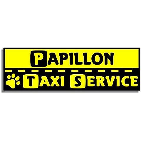 Papillon Taxi Service - Car Bumper Sticker / Coche Pegatina / Inicio Puerta / Window Door Dog / Perro Sign