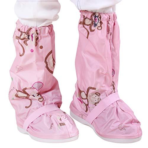 Regen Schuhüberzieher Überschuhe Wasserdichte - Kinder Regen Stiefel Wiederverwendbare Schnee Schuhe Anti-Rutsch Regenkombi Mädchen Jungen