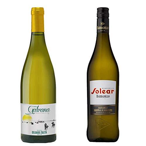 Viña Galvana Y Manzanilla Solear - Vino De La Tierra De Cádiz Y D. O. Manzanilla De Sanlúcar De Barrameda - 2 Botellas De 750 Ml