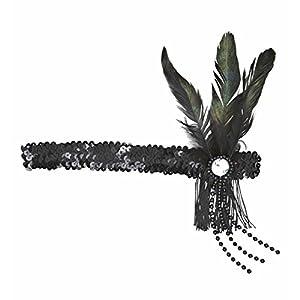 WIDMANN wdm9099t?Banda para Cabeza de lentejuelas, color negro, talla única