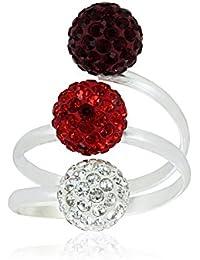 """Fashionvictime - Mujer Anillo - """"Esferas"""" Plata 925 - Crystals From Swarovski - Joyeria Tendencia -"""