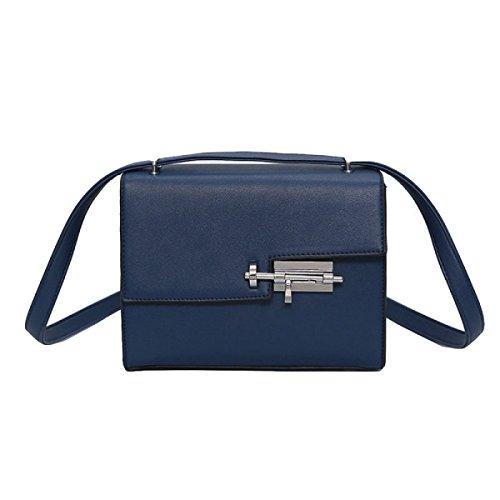 Sacchetto Diagonale Delle Borse Delle Donne Casuali Di Modo Piccolo Sacchetto Quadrato Blue