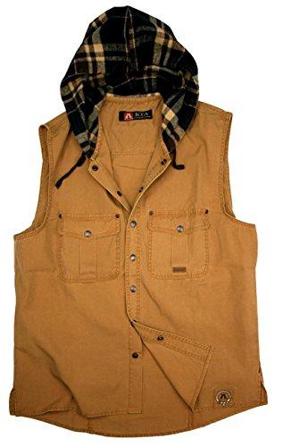 Kakadu Traders Outdoor Herrenhemd- Weste ROSTON Blau