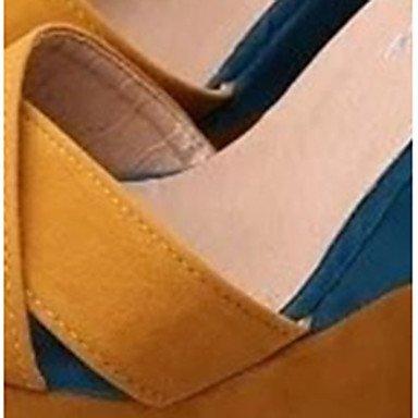 LvYuan Da donna-Sandali-Formale Casual-Altro-Zeppa-PU (Poliuretano)-Giallo Yellow