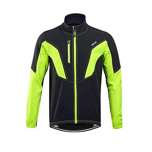 GITVIENAR Herren Fahrradbekleidung Atmungsaktiv Schnell Trocken Bekleidung und Wasserdicht für Outdoor Fahrrad Sport mit Warm Fleece Jacke für Winter Herbst Frühling