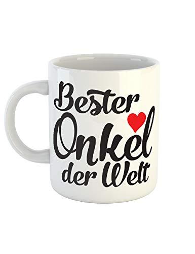 clothinx Kaffeetasse mit Aufdruck Bester Onkel Der -