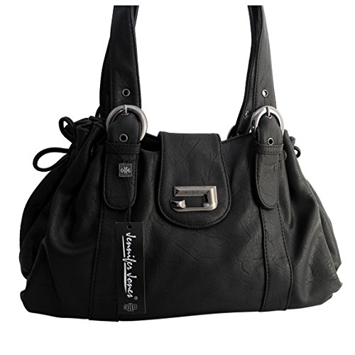 0e5807c524cb8 Schultertasche von Jennifer Jones - moderne Damen Handtasche Umhängetasche Shopper  Henkeltasche Damentasche ( Taupe ) -