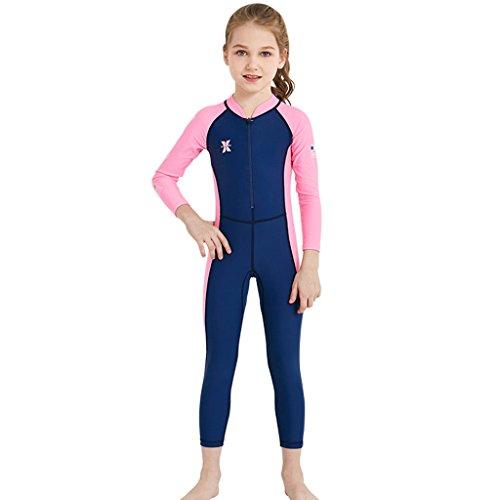 Ragazzi Ragazze Muta da Sub Costume da Bagno - Bambini Costumi da Bagno Manica Lunga Muta Protezione Solare UV 50+ Bambino Piccolo Body Rashguard Spiaggia