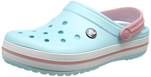 (Crocs Unisex-Erwachsene Crocband Clogs, Blau (Ice Blue-White), 39-40 EU)