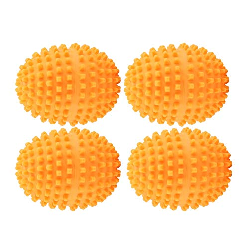 Dewin Trockner-Bälle - Orange Wiederverwendbare Trockner-Bälle, waschender Wäscherei-trocknender Ball, für Hauptkleider-Reinigung, 4Pcs / Set