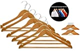 GKP PRODUCTS Pack of 6 Wooden Cloth Hangers Model 287370