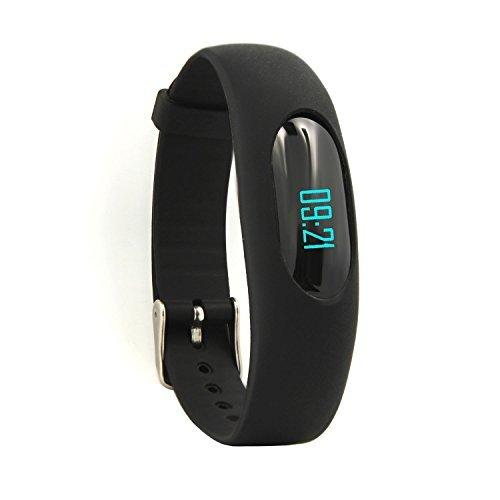AsiaLONG Schrittzähler Armband Uhr Fitness Tracker Ohne Bluetooth mit Zeit, Dtum, Kalorienzähler, Schlafüberwachung, Entfernung, Geschwindigkeit Ohne APP Handy für Sport Outdoor (Schwarz)