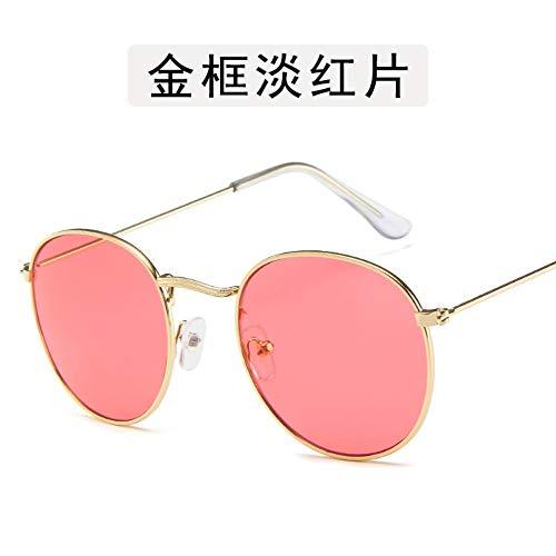 Sonnenbrille Kleine Runde Sonnenbrille Frauen Männer Aviation Auge Sonnenbrille Metallrahmen Sonnenschutz Für Frauen Top Selling Gold Rot