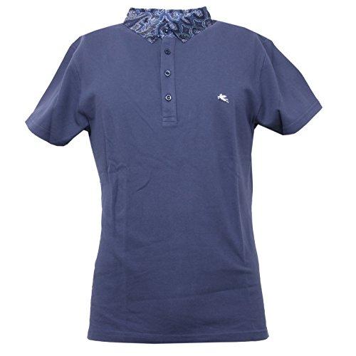 B3397 polo uomo ETRO maglia manica corta blu chiaro t-shirt man [S]