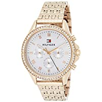 Tommy Hilfiger Women's Quartz Watch, Chronograph Display and Stainless Steel Strap 1782143